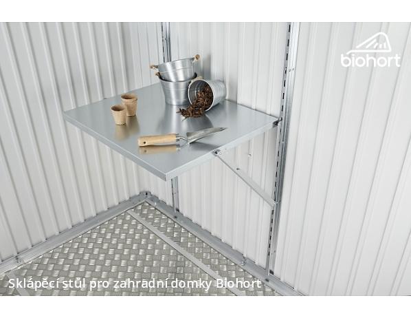 Sklápěcí stůl k zahradním domkům Biohort