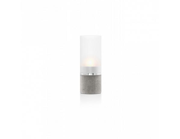 Svícen na čajovou svíčku Faro, beton, sklo