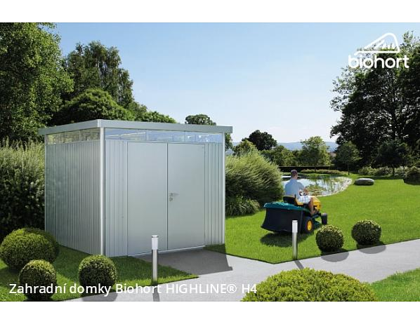 Zahradní domek HIGHLINE H1 s dvoukřídlými dvěřmi