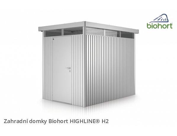 Zahradní domek HIGHLINE H2 s jednokřídlými dvěřmi