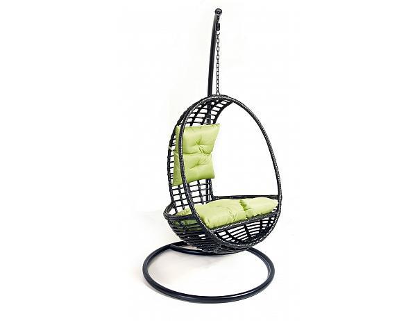 Závěsné relaxační křeslo GREY – černé