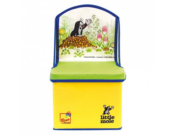 Krabice na hračky 2v1 s Krtkem, židlička