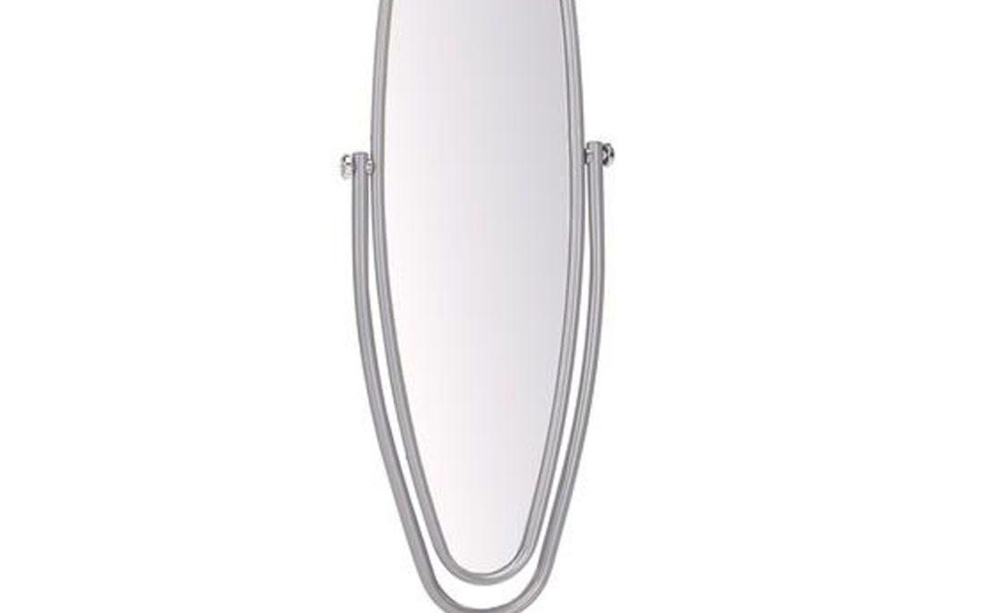 Halmar Oválné výklopné zrcadlo LS-2, stříbrný rám