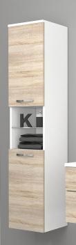 Vysoká závěsná koupelnová skříňka Lorieta bs 1