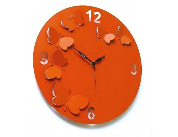 Designové hodiny D&D 206 Meridiana, oranžový lak