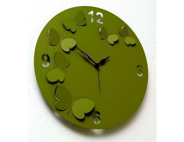 Designové hodiny D&D 206 Meridiana, tmavě zelený lak