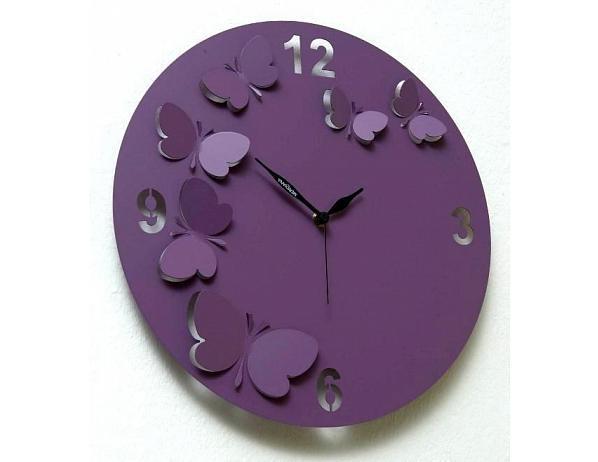 Designové hodiny D&D 206 Meridiana, fialový lak