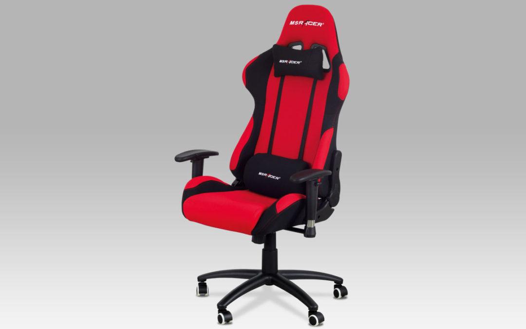 Autronic Kancelářská židle KA-F01 RED, červená