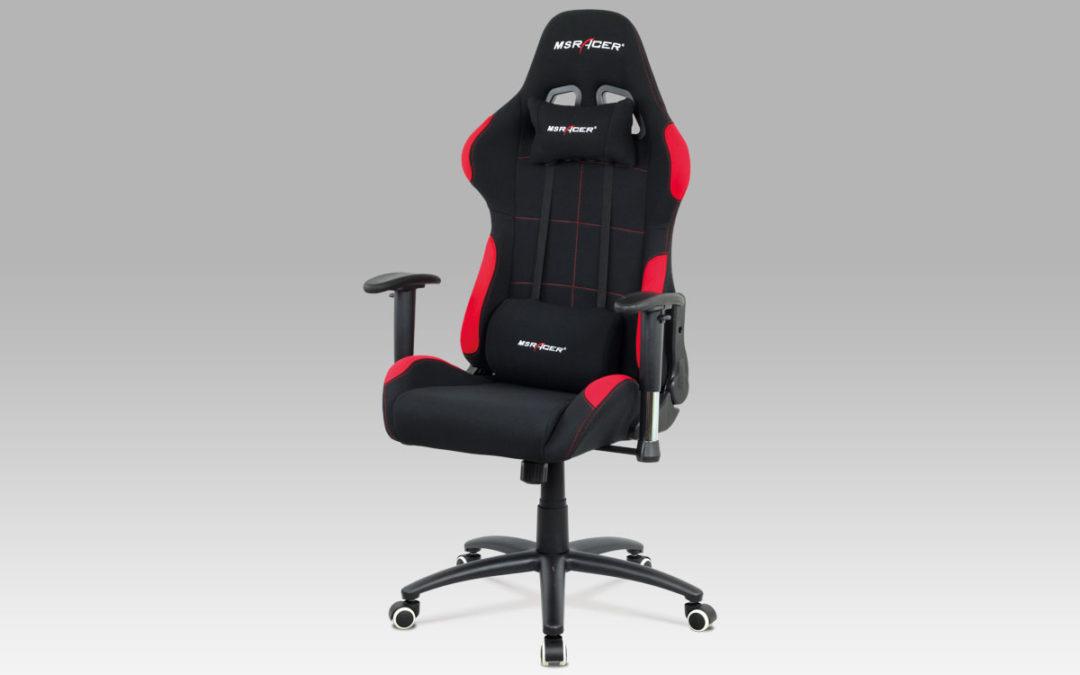 Autronic Kancelářská židle KA-F02 RED, červená
