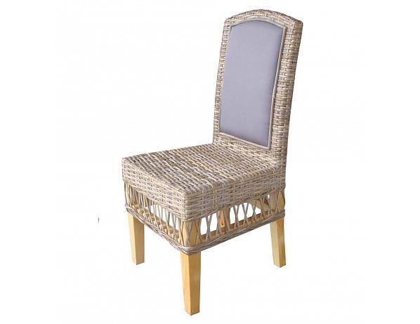 Ratanová jídelní židle MEGA – cubu grey