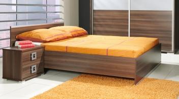 Výprodej – Manželská postel s roštem Freda