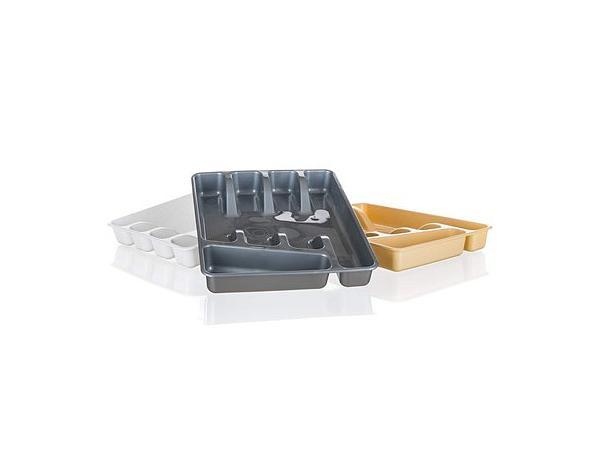 Příborník plastový APETIT, 32x26x4,5 cm, mix 3 barev