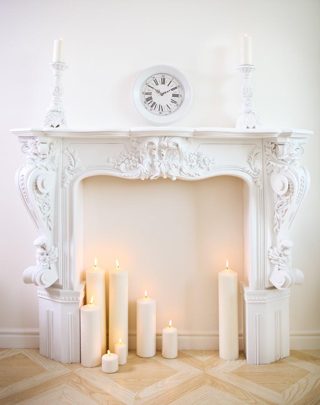 Svíčky místo krbu