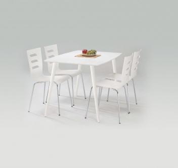 Jídelní set 4+1 Avila – bílý mat