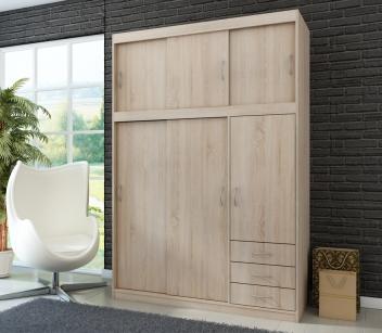 Akce – Šatní skříň s posuvnými dveřmi Saima