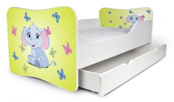 Výprodej – Dětská postel se zábranami Sloník