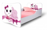 Výprodej – Dětská postel Cute Kitty růžová