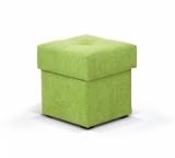Výprodej – Čalouněný taburet s úložným prostorem Saul – nubuk 226