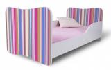 Výprodej – Dětská postel růžové Pruhy