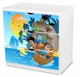 Výprodej – Dětská komoda Pirátská loď