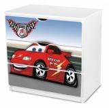 Výprodej – Dětská šuplíková komoda červené Auto 1