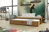 Výprodej – Dětská postel s přistýlkou Krystena – bílá