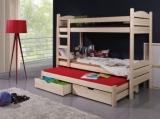 Výprodej – Dětská patrová postel Albert z masivu