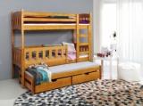 Výprodej – Patrová postel s přistýlkou Arinka – olše