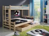 Výprodej – Patrová postel dvojlůžko Juraj – buk