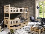 Výprodej – Patrová postel z masivu Alan – borovice