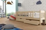 Výprodej – Dětská dřevěná postel se zábranou Armon – kalvados