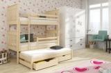Výprodej – Patrová postel Dorie z masivu borovice 1