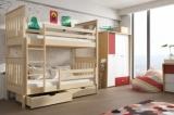 Výprodej – Patrová postel Mandy pro děti – moření bílá, 80 x 180 cm