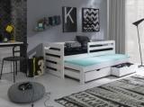 Výprodej – Dětská postel s přistýlkou Vernola – moření bílá, 90 x 200 cm