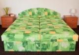 Výprodej – Čalouněná manželská postel Rozita – 120×200 cm, čalounění 33