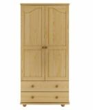 Výprodej – Rustikální šatní skříň Avra