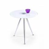 Výprodej – Kulatý odkládací stolek Kinet 2 – bílý