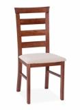 Výprodej – Elegantní čalouněná jídelní židle Alcinia – ořech