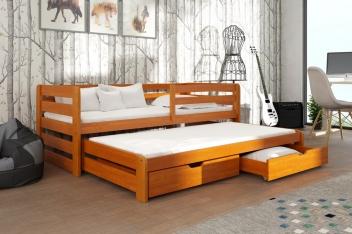 Výprodej – Dětská postel s přistýlkou Vernola – olše