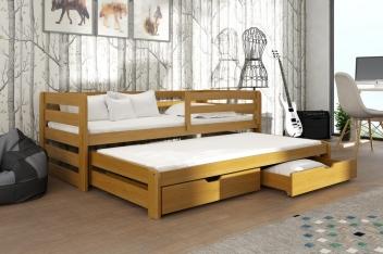 Výprodej – Dětská postel s přistýlkou Vernola – dub