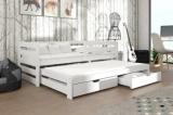 Výprodej – Dětská postel s přistýlkou Vernola – bílá, 80 x 180 cm