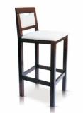 Výprodej – Dřevěná barová židle Kurtis – MA00/mahagon