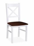 Výprodej – Jídelní židle Ricardo – masiv buku – izolda šedá/bílá