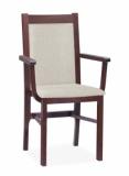Výprodej – Jídelní židle s područkami Majmara – bavaria 3, mahagon
