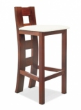 Výprodej – Barová židle z masivu Kaukara – bavaria 2/ořech