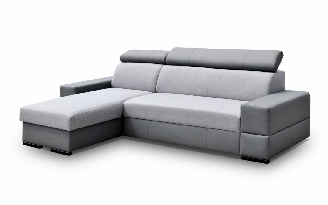 Smartshop Rohová sedačka CORTINA FLEXI 5, šedá látka/šedá ekokůže