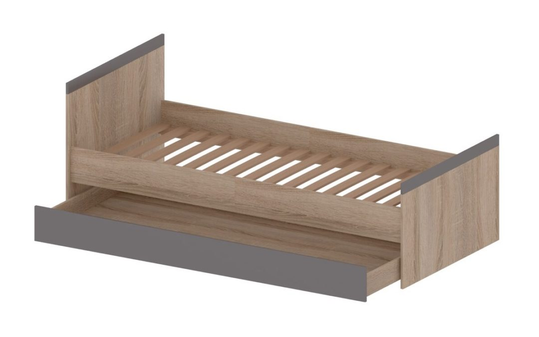 Bog Fran MADAGASKAR postel 90 x 200 univerzální, dub sonoma/grafit