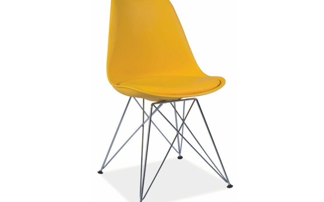 Smartshop Jídelní židle TIME, žlutá