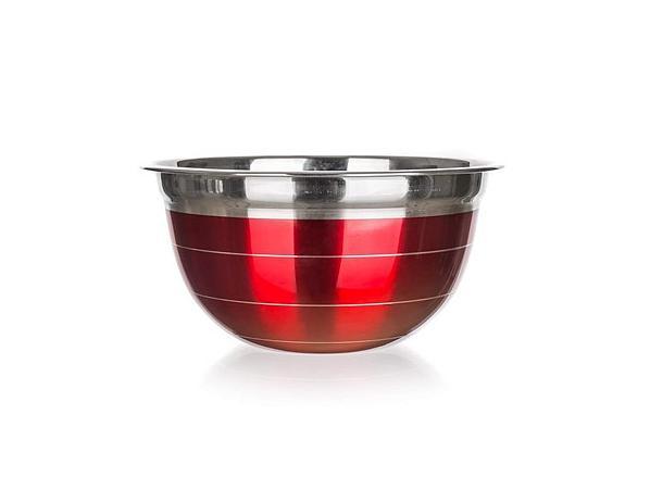 BANQUET Mísa nerezová AVANZA, 21 cm, červená