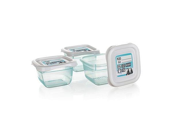 BANQUET Sada plastových dóz POLAR 3 ks, 6,5 x 6,5 x 4 cm, 0,1 l
